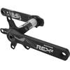 Rotor REX 2.2 INpower Kurbelgarnitur 2-fach schwarz